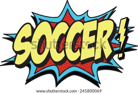 soccer - stock vector