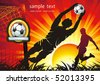 Soccer Action player. Team on beautiful Abstract Background. Original Vector illustration sports series. Abstract Classical football poster. - stock photo