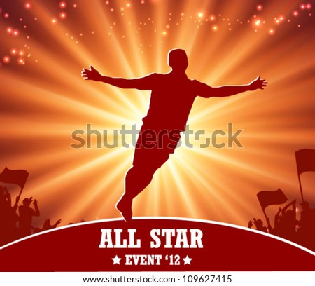 soccer and sport poster - stock vector