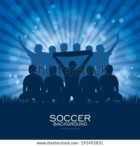 Soccer Background with sport team - stock vector