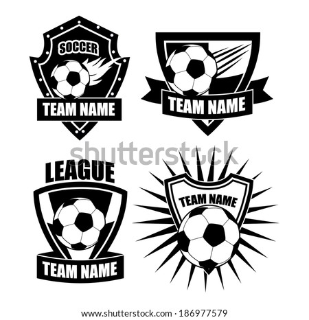 Soccer badge icon symbol set  EPS 10 vector, grouped for easy editing. No open shapes or paths.