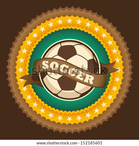Soccer badge. Vector illustration. - stock vector