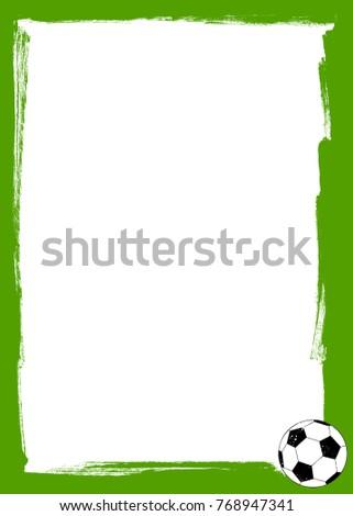 Soccer Ball Grunge Frame Stock Vector 768947341 - Shutterstock