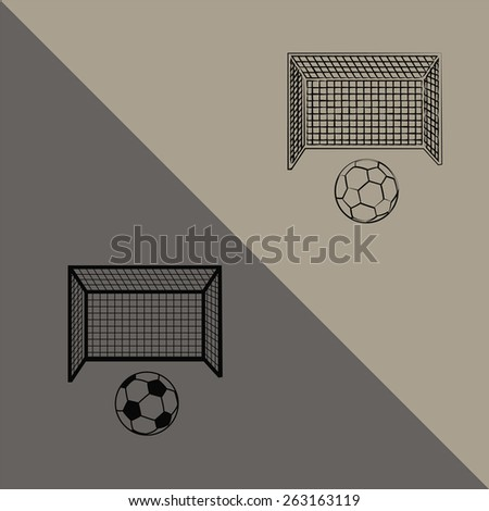Soccer ball and play - stock vector