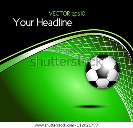 Soccer ball background - stock vector