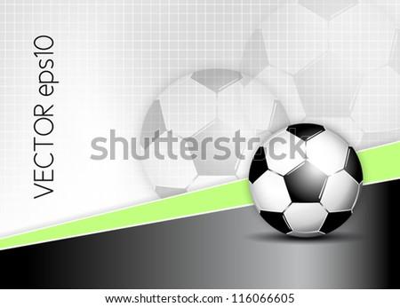Soccer ball background - stock vector