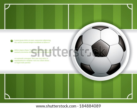 Soccer ball brochure.Vector - stock vector