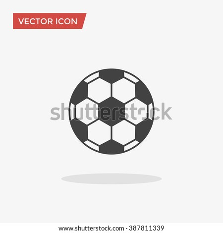 Soccer ball Icon in trendy flat style isolated on grey background. Football symbol for your web design, logo, UI. Vector illustration, EPS10. - stock vector
