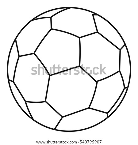 soccer ball icon outline illustration soccer stock vector