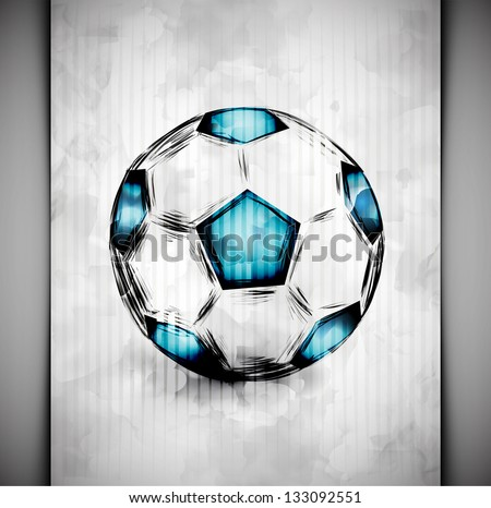 Soccer ball in watercolor style. Eps 10 - stock vector