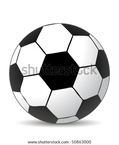 soccer ball in white and balck colors - stock vector