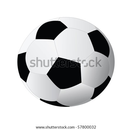 soccer ball isolated on white background - stock vector