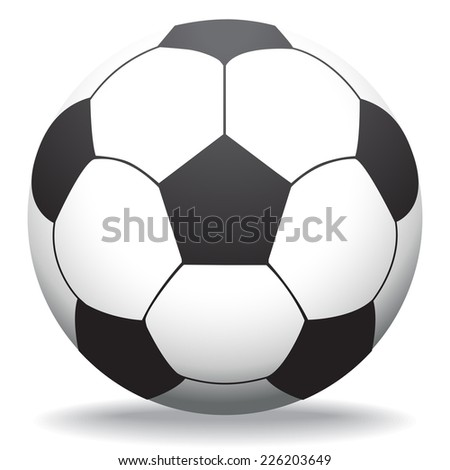 Soccer ball isolated on white, illustration - stock vector