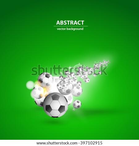 soccer ball light cover easy editable - stock vector