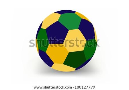 Soccer ball of Brazil , vector  - stock vector
