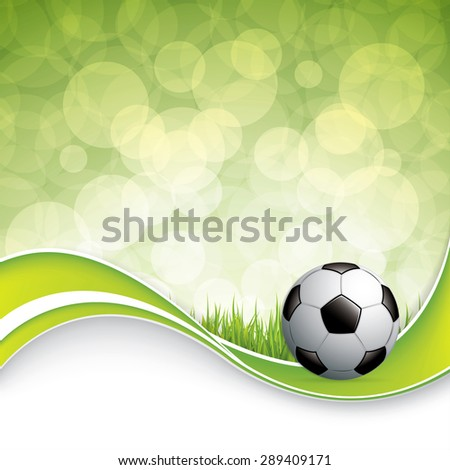 Soccer ball on grass background.Vector - stock vector