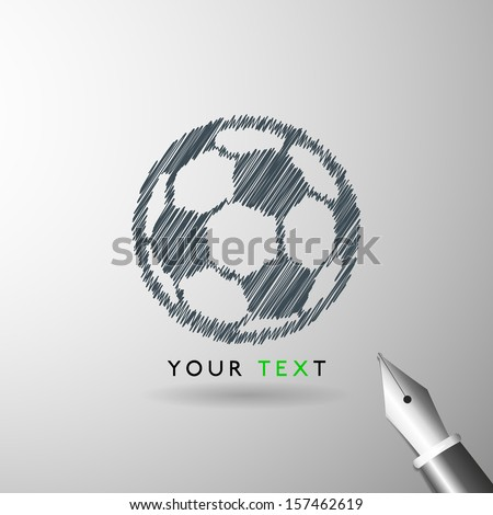 soccer ball sketch icon in vector format - stock vector