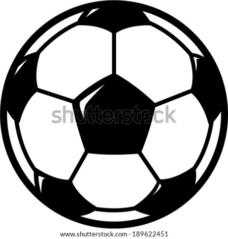 soccer ball symbol - stock vector