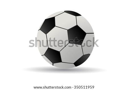 soccer ball vector - stock vector