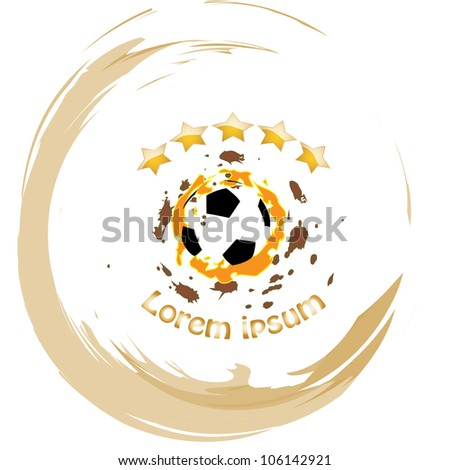 Soccer ball vector abstract illustration - stock vector