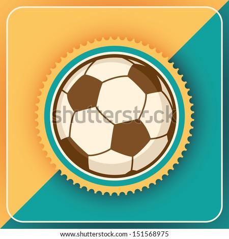 Soccer ball. Vector illustration. - stock vector