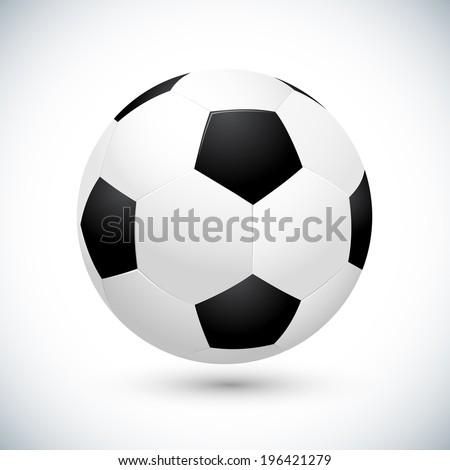 Soccer ball vector illustration - stock vector