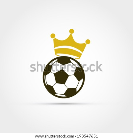 Soccer ball with crown - stock vector
