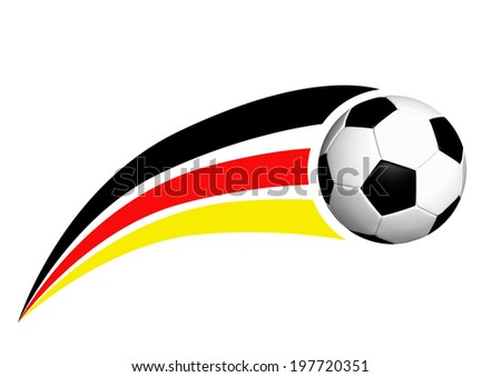 Soccer ball with german strpes - stock vector