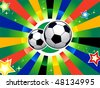 Soccer balls over abstract background - stock vector