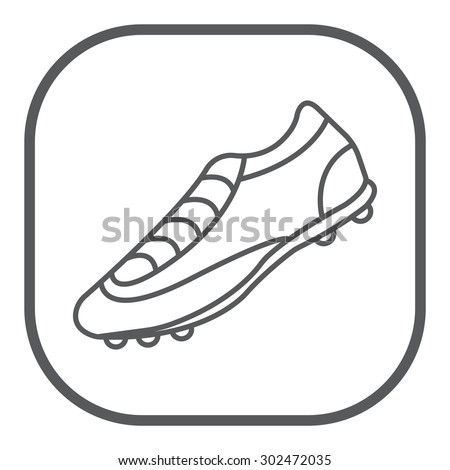 Soccer boots label - vector illustration - stock vector