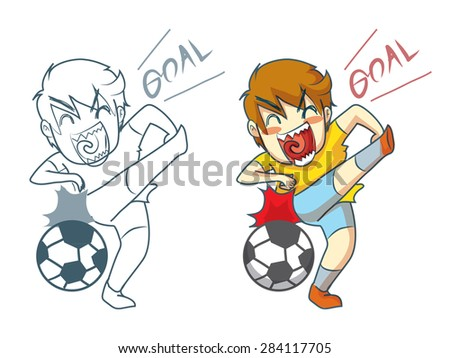 soccer boy cartoon