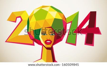 soccer 2014 brasil - stock vector