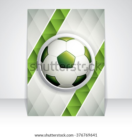 Soccer brochure.Abstract geometric triangular background - stock vector