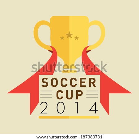 Soccer cup - stock vector