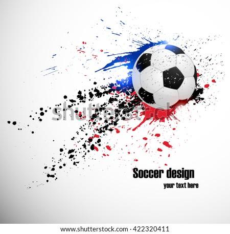 Soccer deign. Design for France soccer championship - stock vector