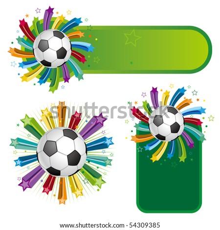 soccer design element,colorful star - stock vector