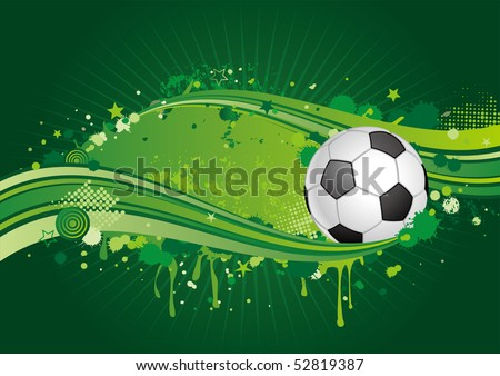 soccer design element,green background - stock vector