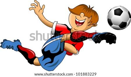 soccer design element; white background (vector-illustration); - stock vector