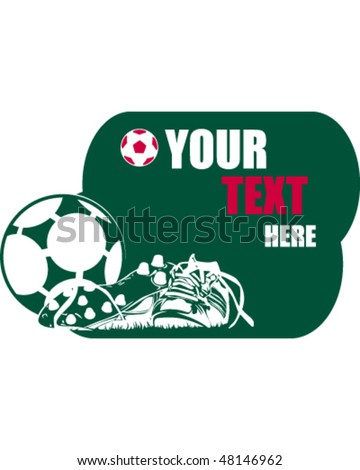 soccer design for shirt, card or media - stock vector