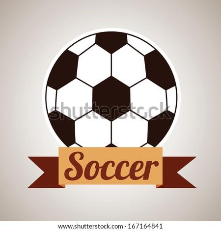 soccer design over beige background  vector illustration - stock vector