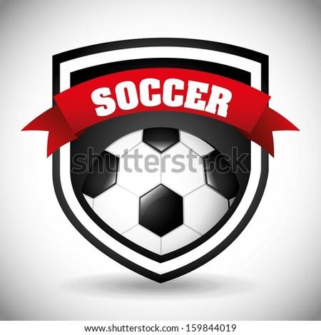soccer design over gray background  vector illustration  - stock vector