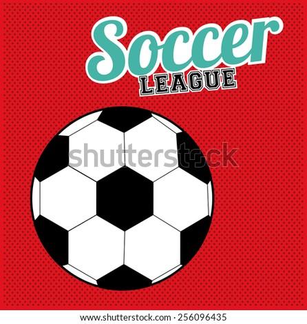 soccer desing over white background vector illustration - stock vector