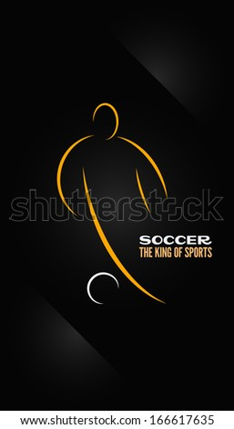 soccer emblem symbol design background - stock vector
