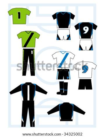 soccer equipment - stock vector
