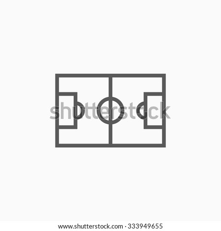 soccer field icon - stock vector
