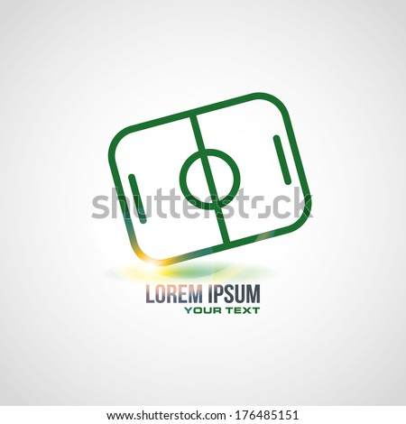 soccer field icon design in vector format - stock vector