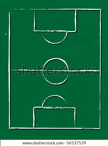 Soccer field illustration-vector-eps10 - stock vector