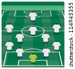 Soccer field layout with formation - stock photo
