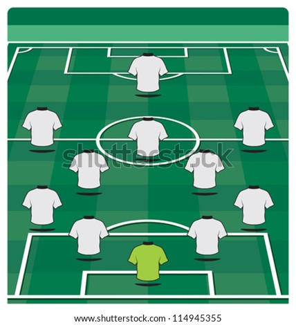 soccer team positions template - football formation stock images royalty free images