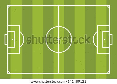 Soccer field or pitch - stock vector
